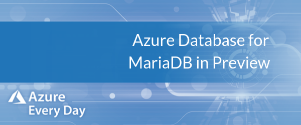 Azure Database for MariaDB in Preview (1)