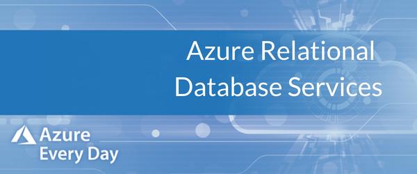 Azure Relational Database Services