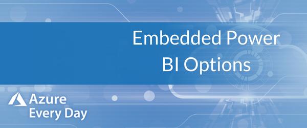 Embedded Power BI Options