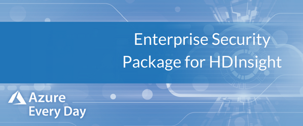Enterprise Security Package for HDInsight