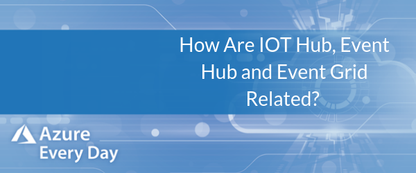 How Are IOT Hub, Event Hub and Event Grid Related?