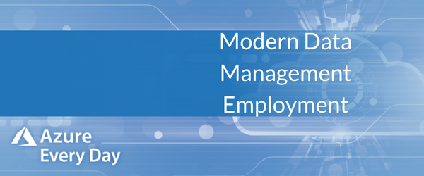 Modern Data Management Employment