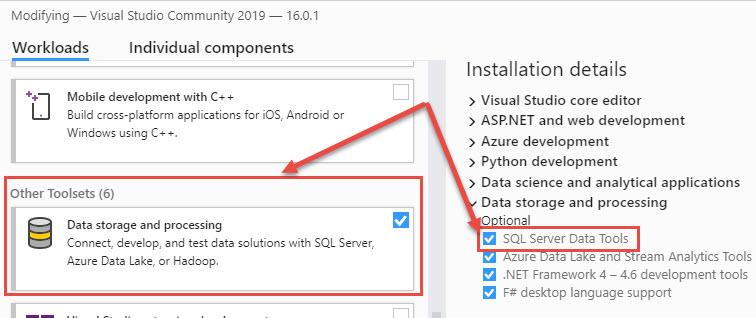 Visual Studio 2019 BI Design Tool Extensions