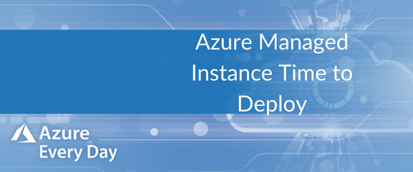 Azure Managed Instance Time to Deploy