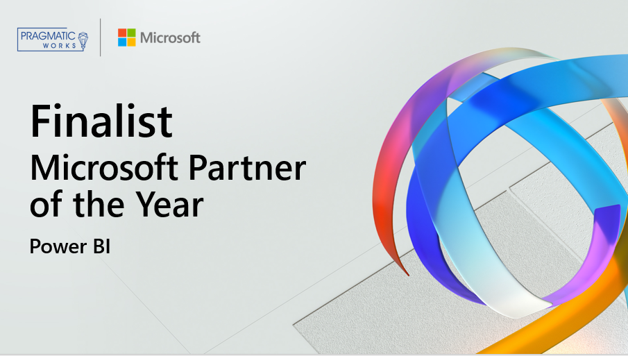 Pragmatic Works recognized as a finalist for Power BI 2020 Microsoft Partner of the Year