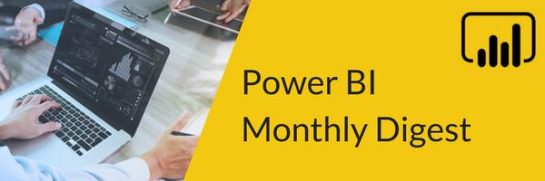 Power BI Monthly Digest - October 2018